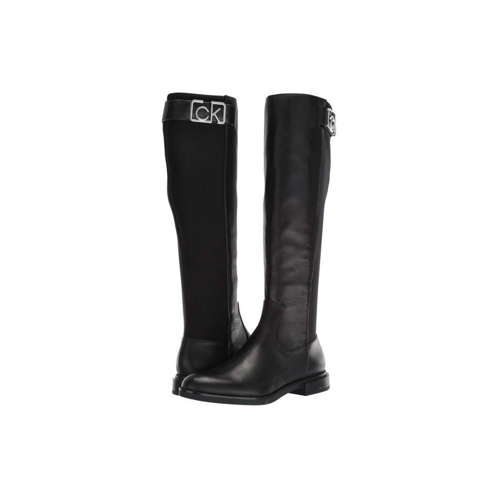 カルバンクライン Calvin Klein レディース ブーツ シューズ・靴【Ada】Black Cow Silk/Neoprene