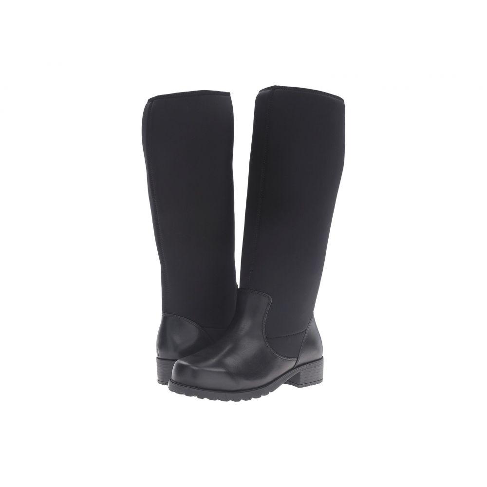 ソフトウォーク SoftWalk レディース ブーツ シューズ・靴【Biloxi Wide Calf】Black Smooth Leather
