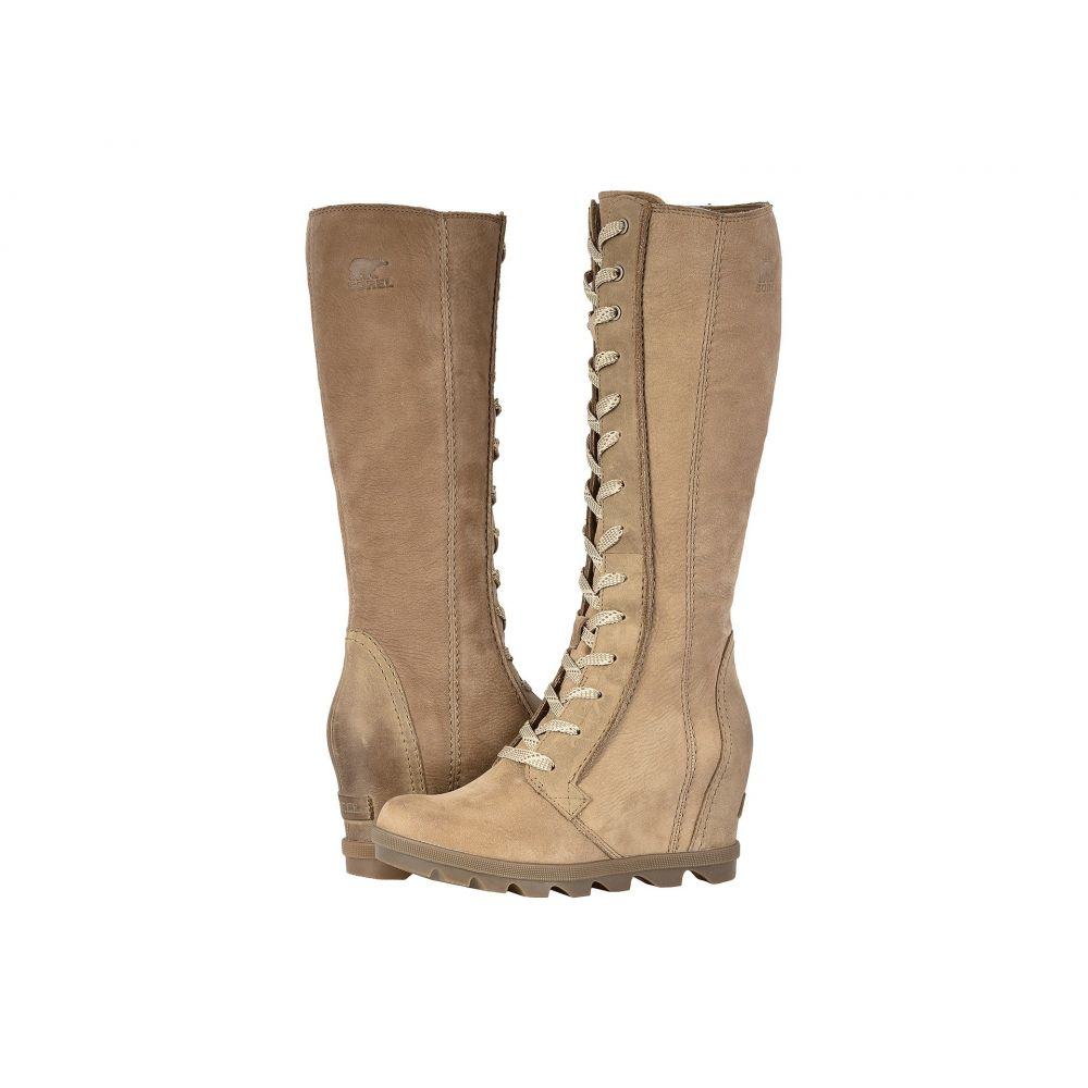 ソレル SOREL レディース ブーツ ウェッジソール シューズ・靴【Joan of Arctic Wedge II Tall】Ash Brown Full Grain Leather/Nubuck Combo