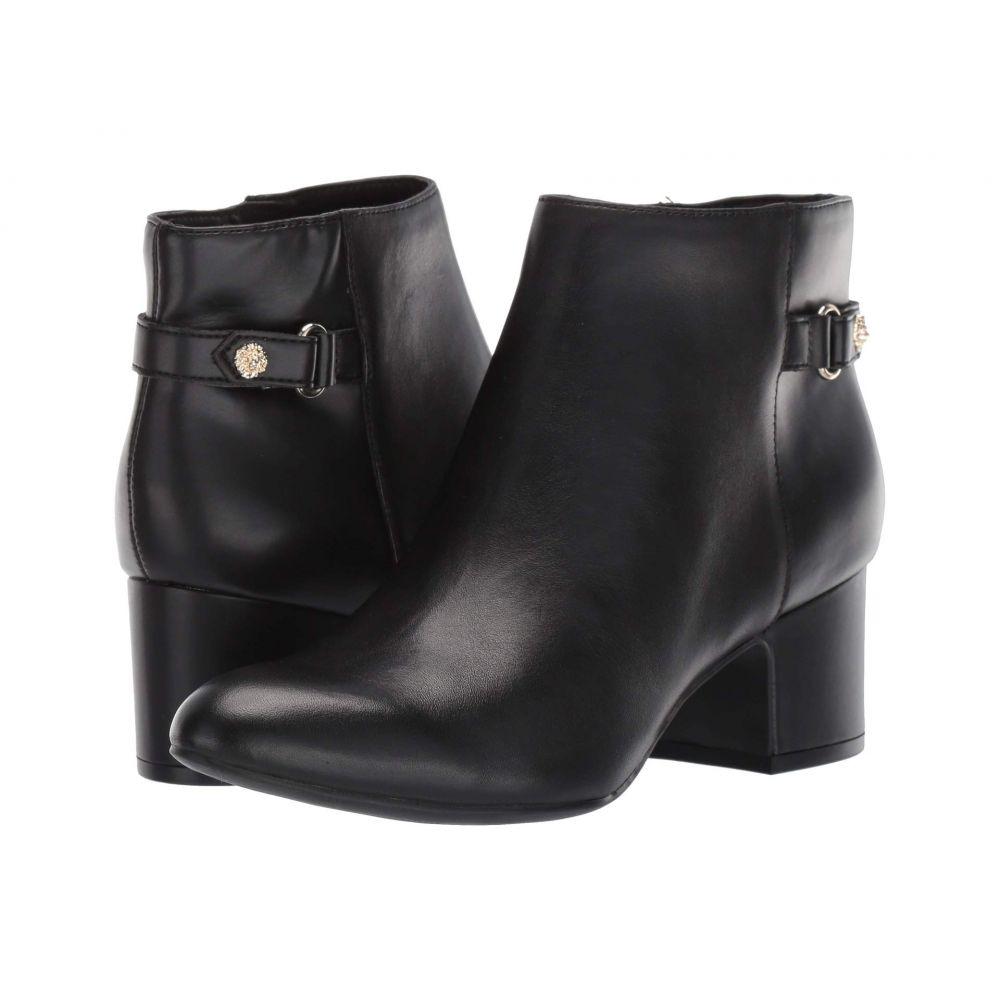 アン クライン Anne Klein レディース ブーツ シューズ・靴【Hilda】Black Leather