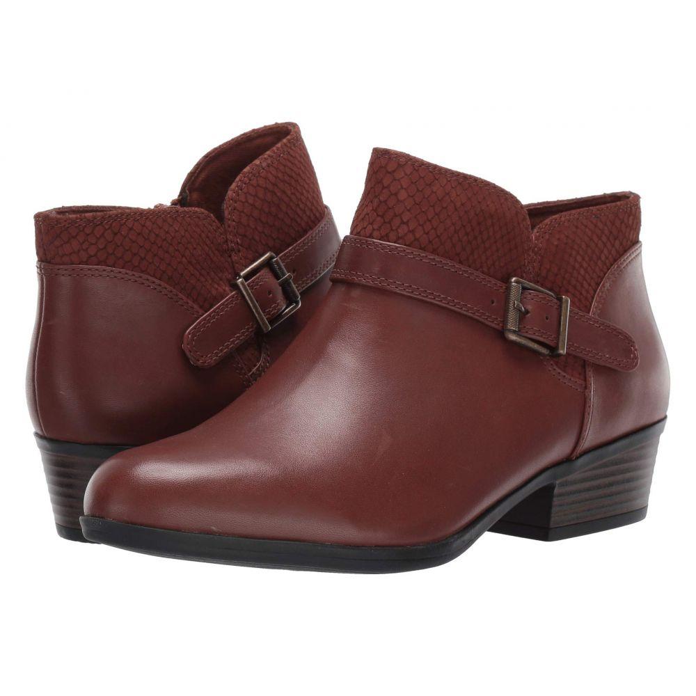 クラークス Clarks レディース ブーツ シューズ・靴【Addiy Sharilyn】Dark Tan Leather