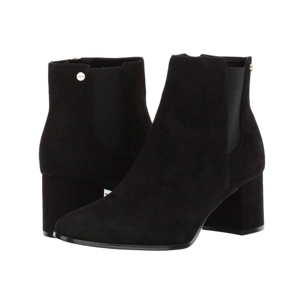 カルバンクライン Calvin Klein レディース ブーツ シューズ・靴【Fisa】Black Suede