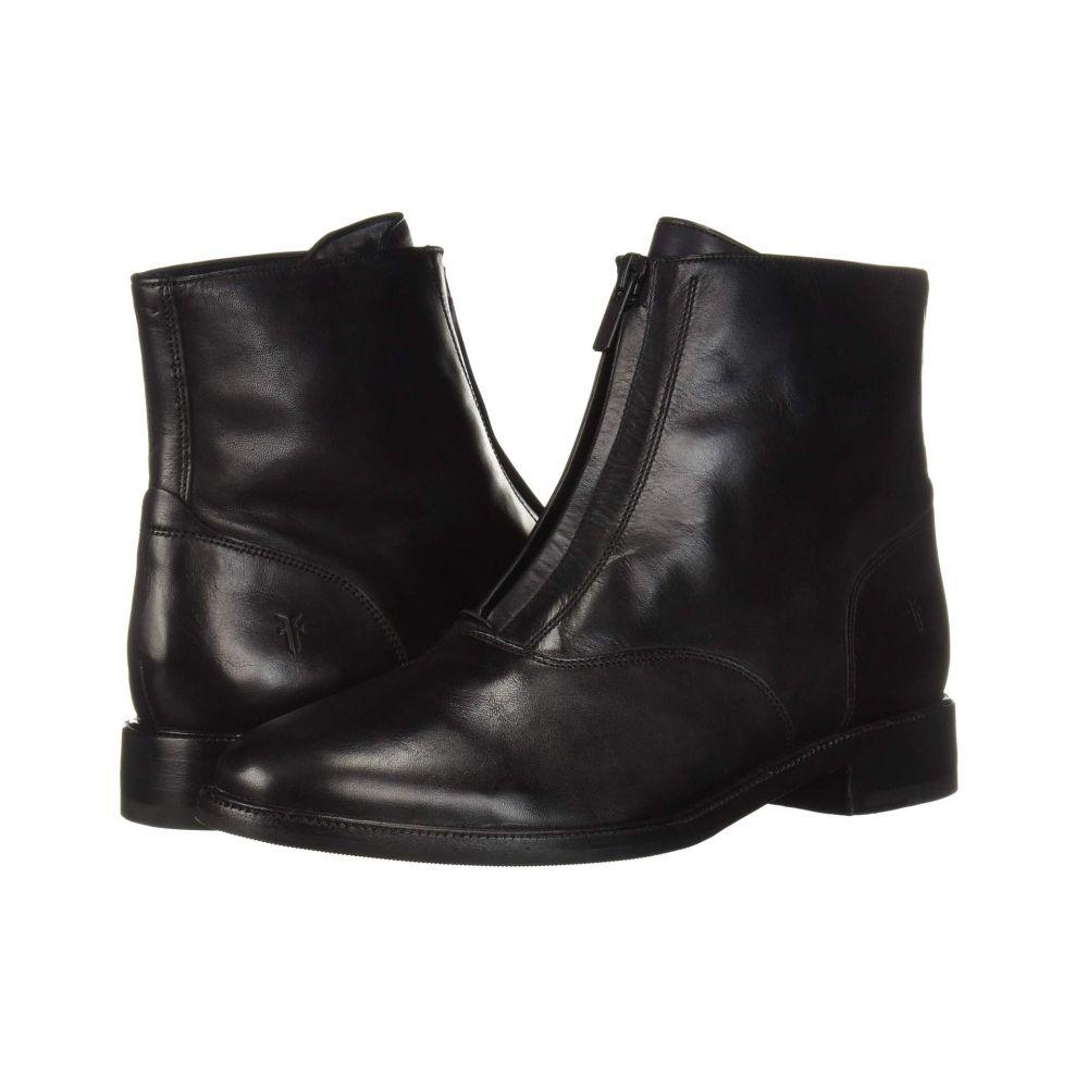 フライ Frye レディース ブーツ シューズ・靴【Kelly Front Zip Bootie】Black Dip-Dyed Leather