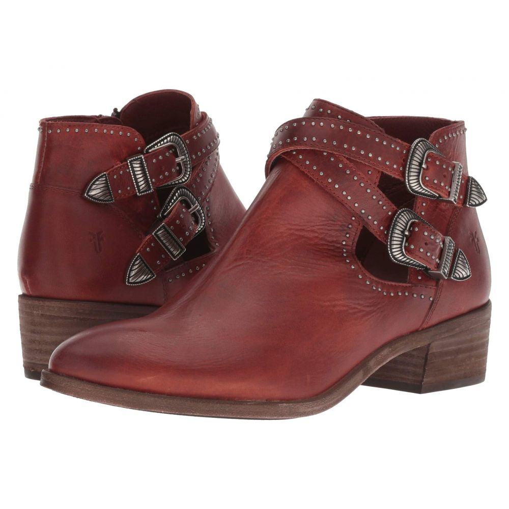 フライ Frye レディース ブーツ シューズ・靴【Ray Deco Western Shootie】Red Clay Antique Pull Up