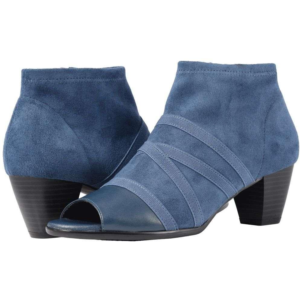 トロッターズ Trotters レディース ブーツ シューズ・靴【Maris】Navy Soft Nappa Leather/Stretch Textile