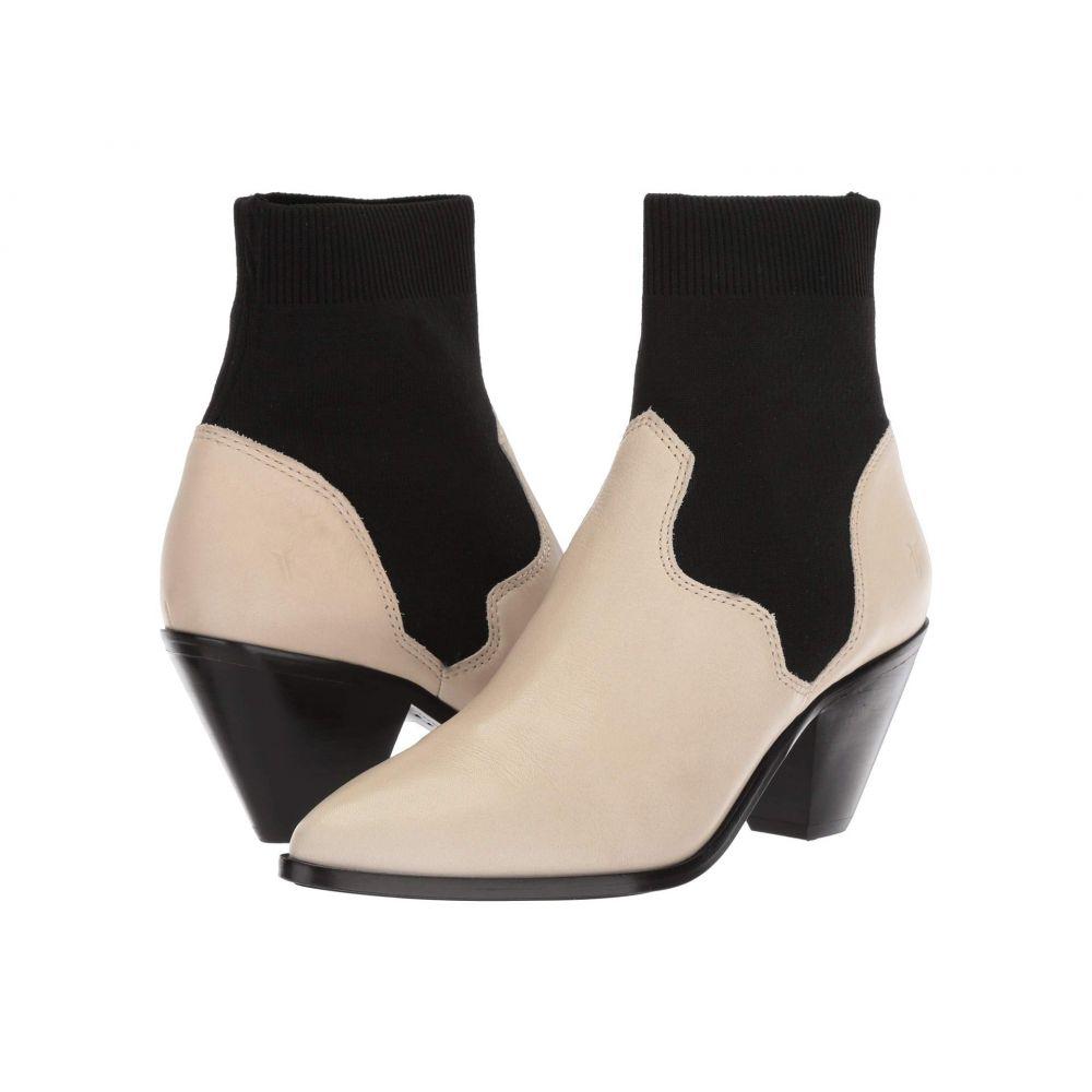 フライ Frye レディース ブーツ シューズ・靴【Lila Sock Short】Off-White Polished Soft Full Grain
