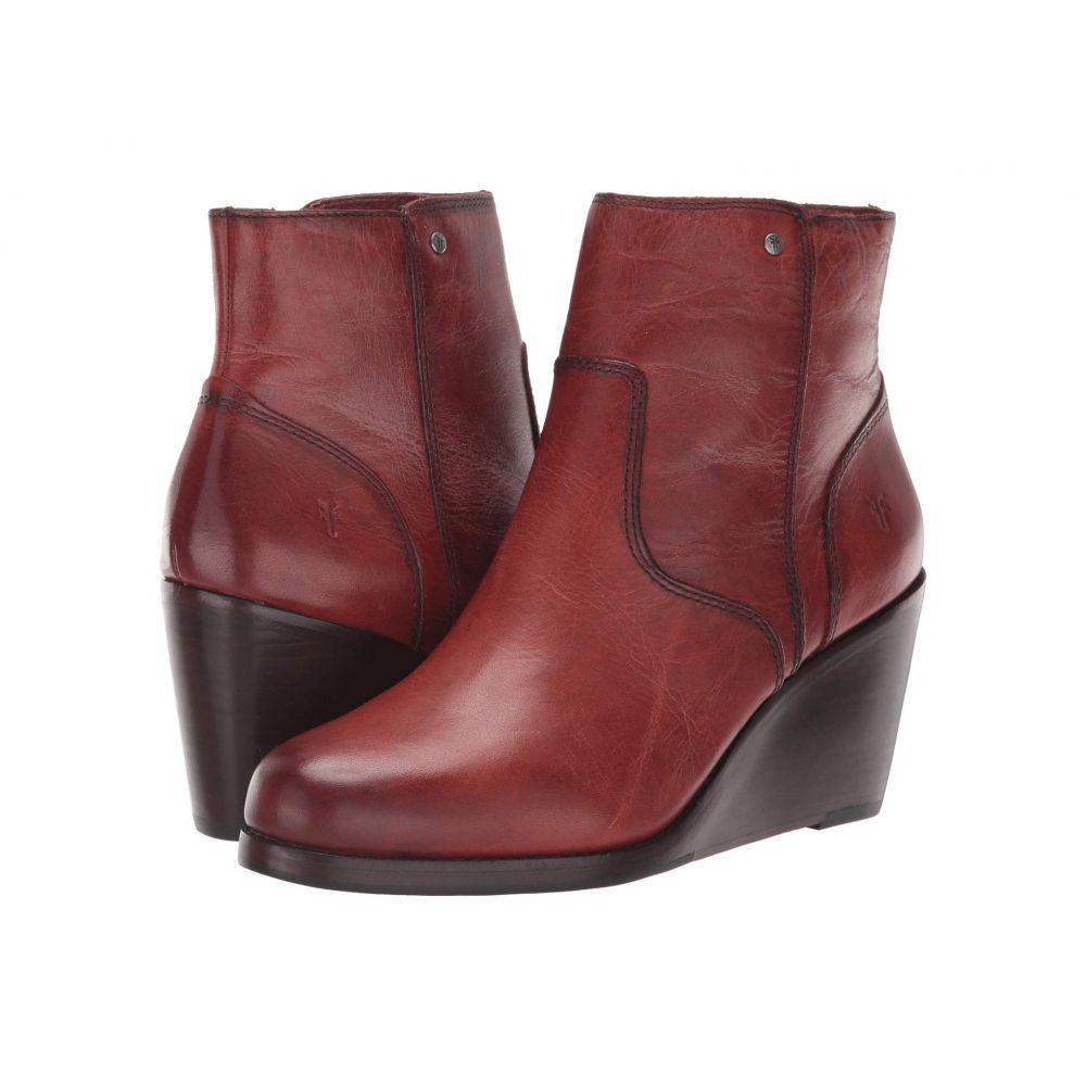 フライ Frye レディース ブーツ ウェッジソール シューズ・靴【Emma Wedge Short】Red Clay Washe Antique Pull-Up