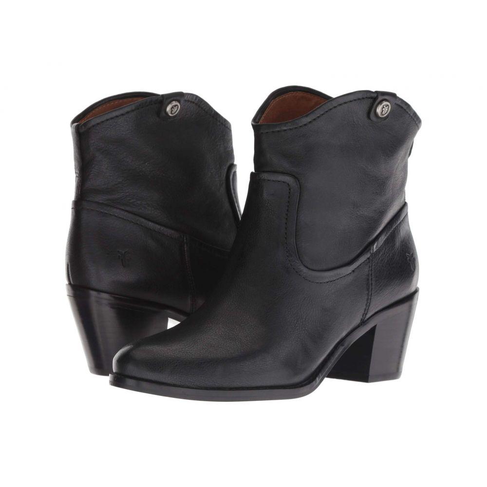 フライ Frye レディース ブーツ シューズ・靴【Jolene Pull-On Short】Black Oiled Pull-Up