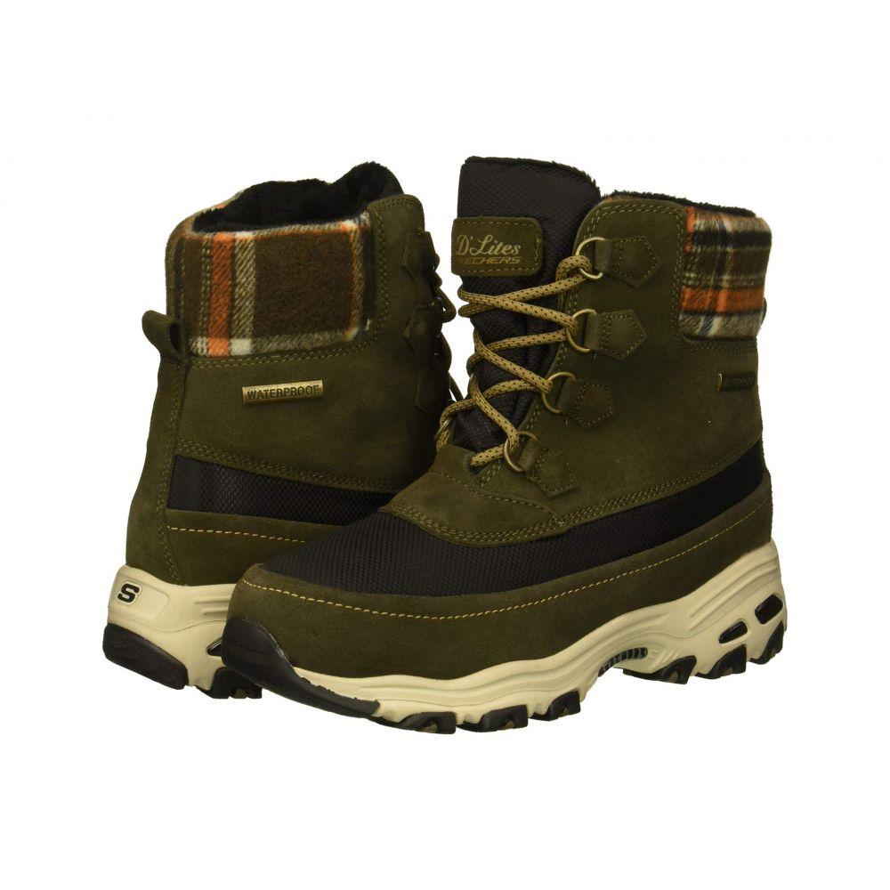 スケッチャーズ SKECHERS レディース ブーツ シューズ・靴【D'Lites】Olive
