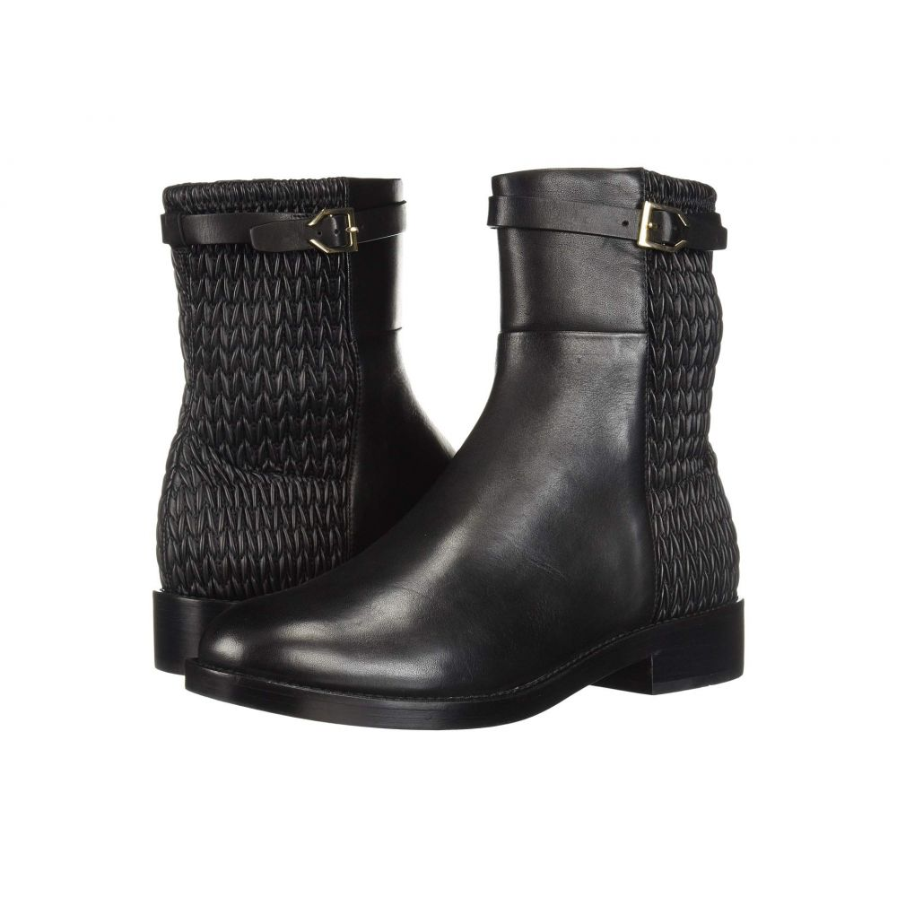 コールハーン Cole Haan レディース ブーツ シューズ・靴【Lexi Grand Stretch Strap Bootie】Black Leather/Weave Stretch Leather