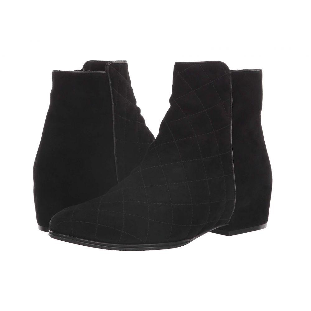 ヴァネリ Vaneli レディース ブーツ シューズ・靴【Gaston】Black Quilted Suede/Black Suede/Black Nappa