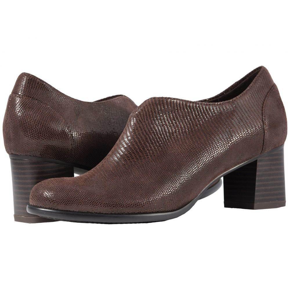 トロッターズ Trotters レディース ブーツ シューズ・靴【Qutie】Dark Brown Soft Lizard Embossed Patent Suede