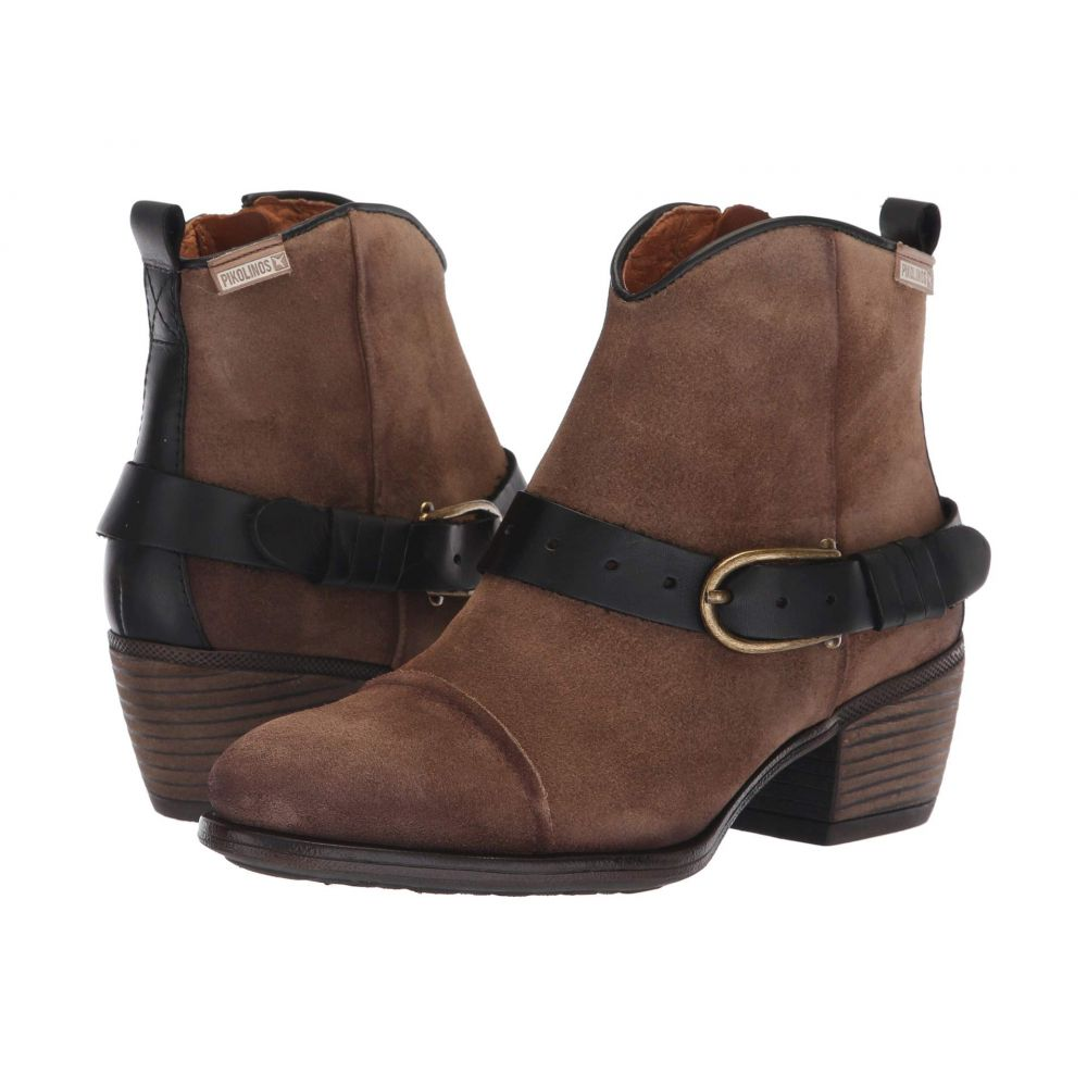 ピコリノス Pikolinos レディース ブーツ シューズ・靴【Baqueira W9M-8733SO】Stone Black