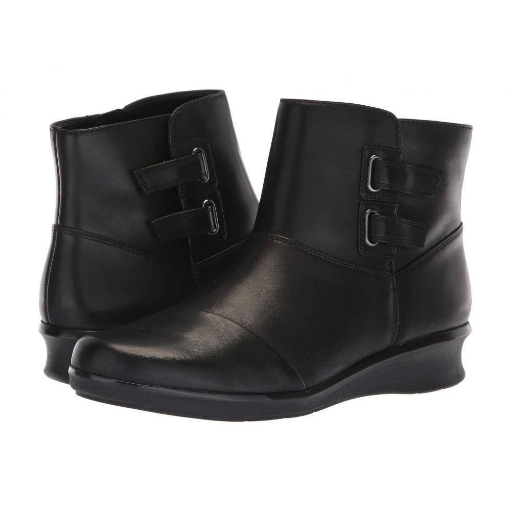 クラークス Clarks レディース ブーツ シューズ・靴【Hope Cody】Black Leather