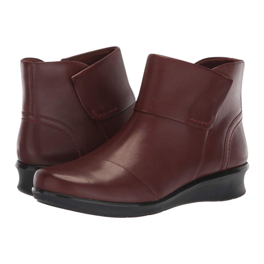 クラークス Clarks レディース ブーツ シューズ・靴【Hope Track】Mahogany Leather