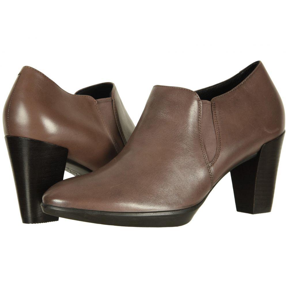 エコー ECCO レディース ヒール シューズ・靴【Shape 55 Plateau Stack Shootie】Deep Taupe Calf Leather