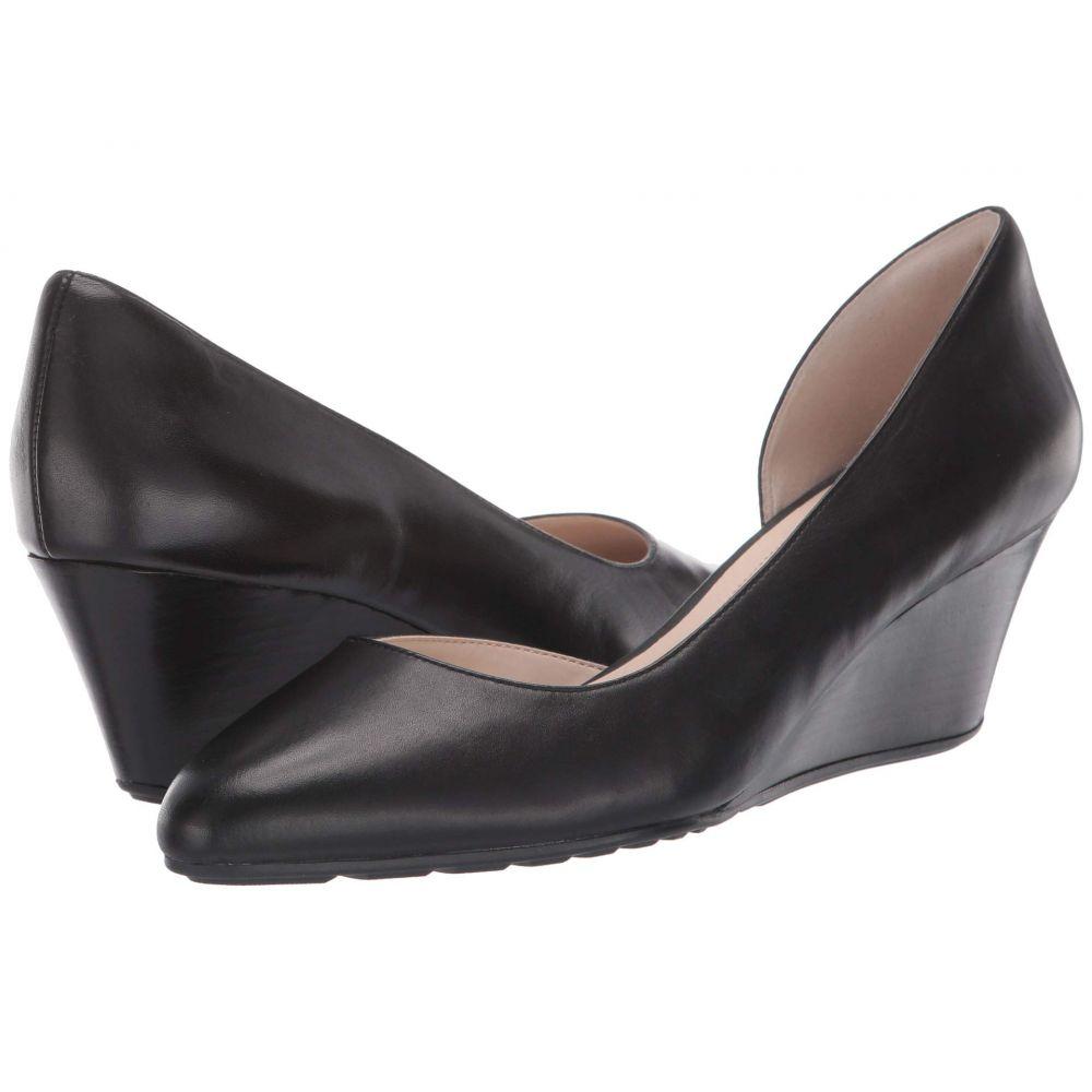 コールハーン Cole Haan レディース ヒール ウェッジソール シューズ・靴【60 mm Edith Closed Toe Wedge】Black Leather