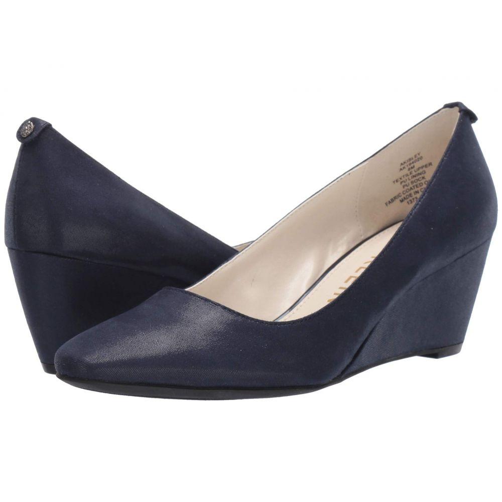 アン クライン Anne Klein レディース ヒール シューズ・靴【Isley】Navy Fabric