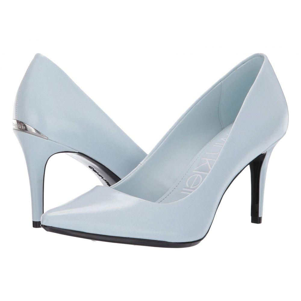 カルバンクライン Calvin Klein レディース パンプス シューズ・靴【Gayle Pump】Pastel Blue Varnished Crackle