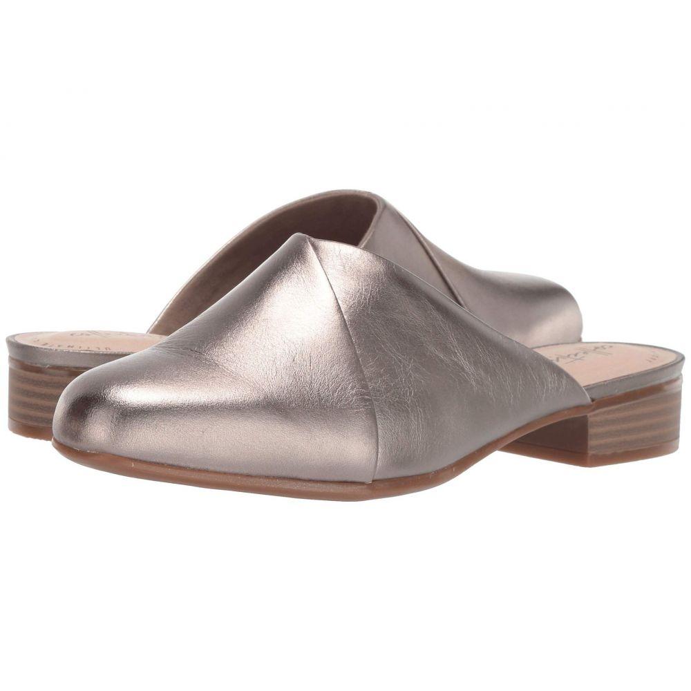 クラークス Clarks レディース パンプス シューズ・靴【Juliet Willow】Pewter Metallic Leather