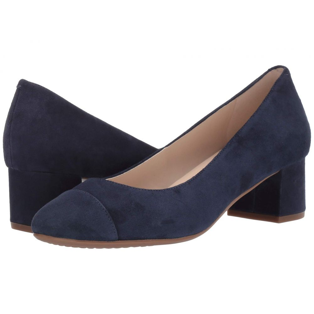コールハーン Cole Haan レディース パンプス シューズ・靴【The Go-To Block Heel Pump 45mm】Marine Blue Suede WP
