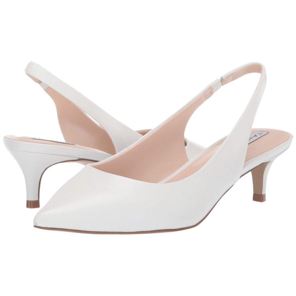 タハリ Tahari レディース パンプス キトゥンヒール シューズ・靴【Finnley Slingback Kitten Heel】White Leather