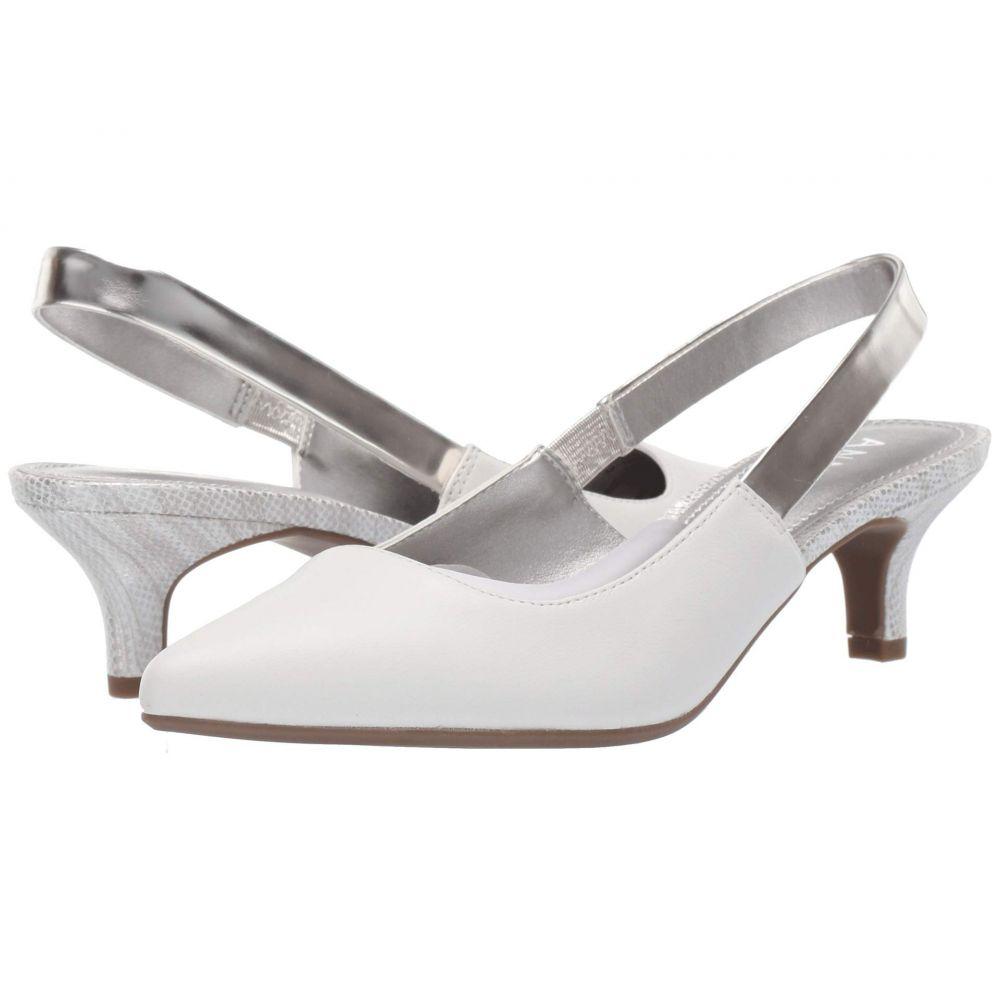 アン クライン Anne Klein レディース パンプス シューズ・靴【Aileen Slingback Heel】White