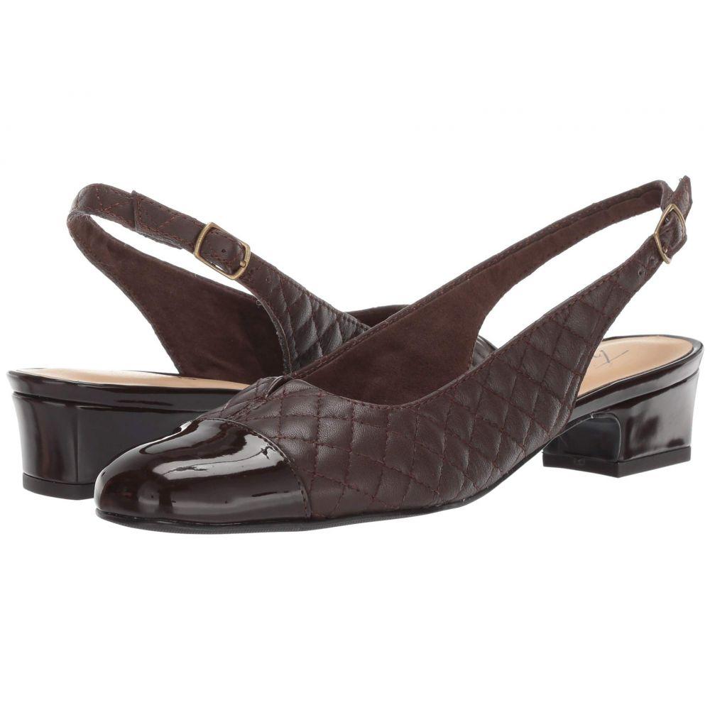 トロッターズ Trotters レディース パンプス シューズ・靴【Dea】Dark Brown Soft Quilted Leather/Patent