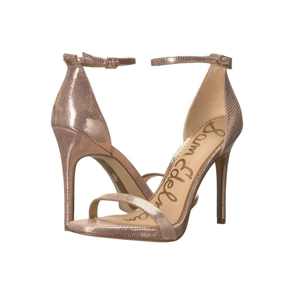 サム エデルマン Sam Edelman レディース サンダル・ミュール シューズ・靴【Ariella Strappy Sandal Heel】Blush Gold New Glamour Lizard Print Leather