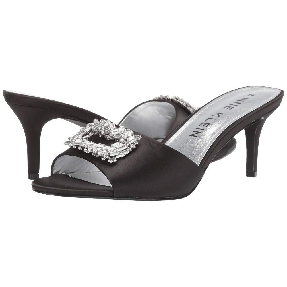 アン クライン Anne Klein レディース サンダル・ミュール シューズ・靴【Sprinkle】Black Satin