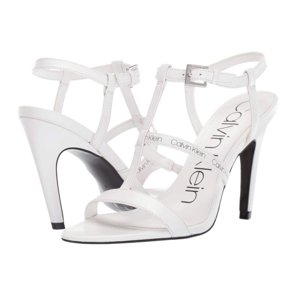 カルバンクライン Calvin Klein レディース サンダル・ミュール シューズ・靴【Gemima】White Cow Silk