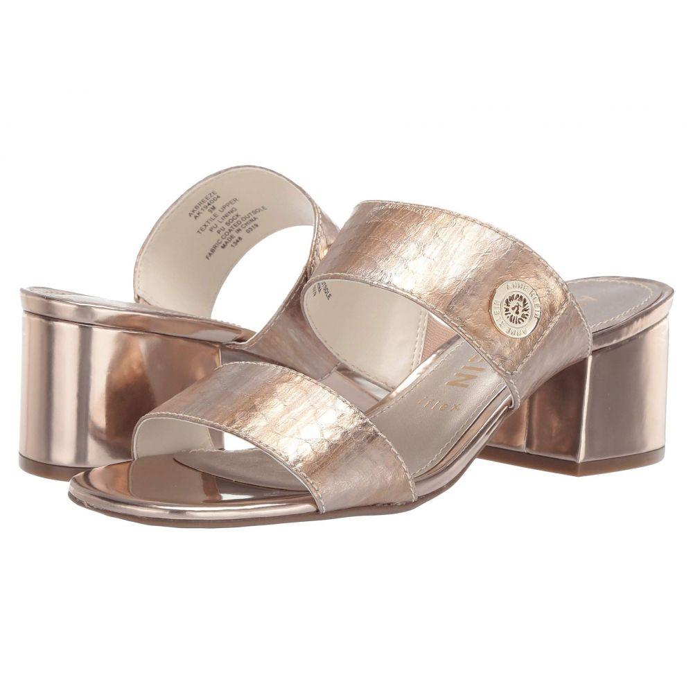 アン クライン Anne Klein レディース サンダル・ミュール シューズ・靴【Breeze】Gold