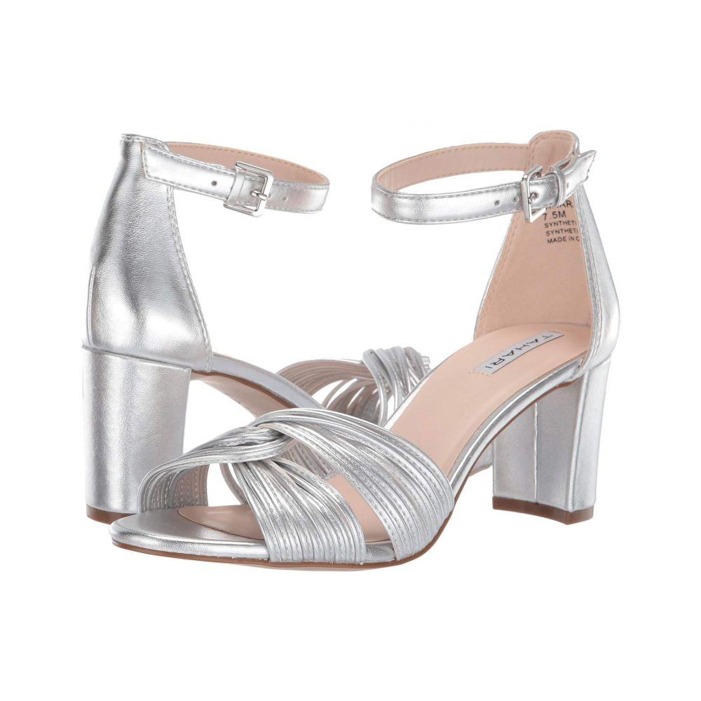タハリ Tahari レディース サンダル・ミュール シューズ・靴【Dinara Heeled Sandal】Silver Metallic