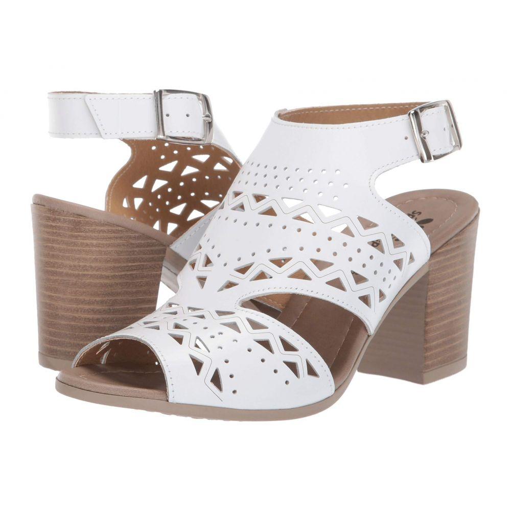 スプリングステップ Spring Step レディース サンダル・ミュール シューズ・靴【Rosemarie】White