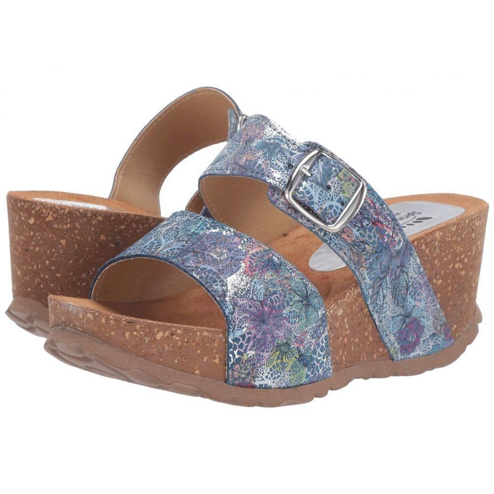 スプリングステップ Spring Step レディース サンダル・ミュール シューズ・靴【Nomys】Blue Multi