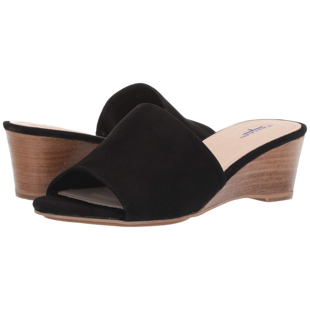 タハリ Tahari レディース サンダル・ミュール ウェッジソール シューズ・靴【Neomea Wedge Mule】Black Suede