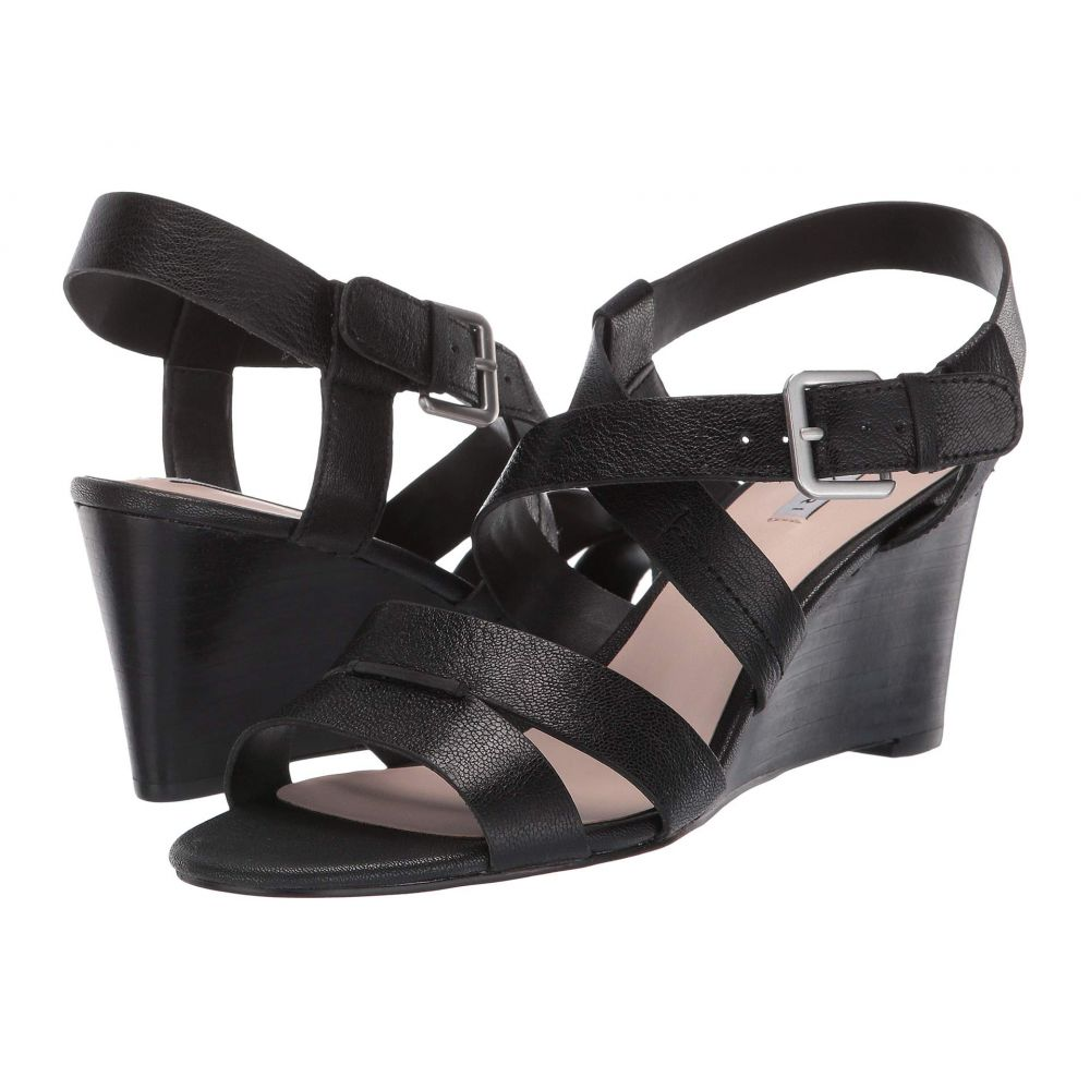 タハリ Tahari レディース サンダル・ミュール ウェッジソール シューズ・靴【Violette Wedge Sandal】Black Leather