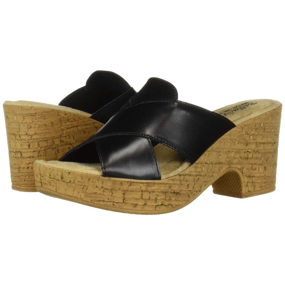 ベラヴィータ Bella-Vita レディース サンダル・ミュール シューズ・靴【Lor-Italy】Black Italian Leather