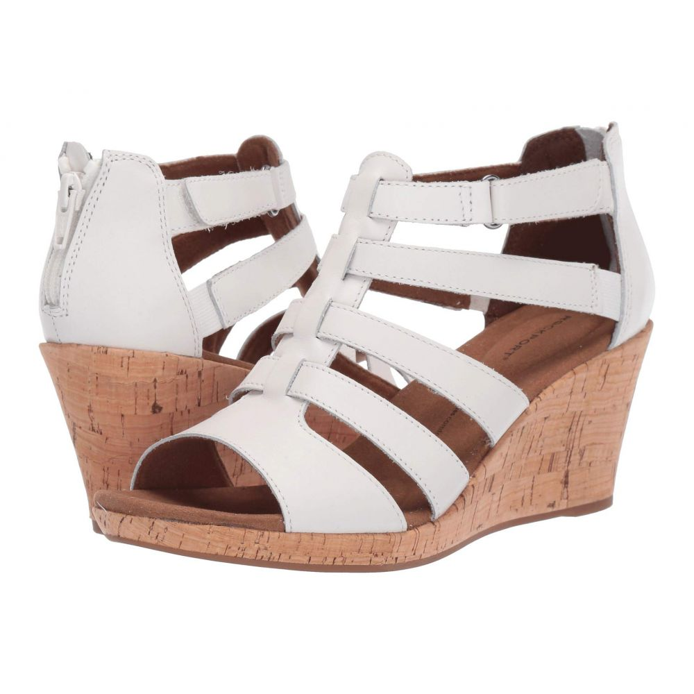 ロックポート Rockport レディース サンダル・ミュール シューズ・靴【Briah Gladiator】White Leather