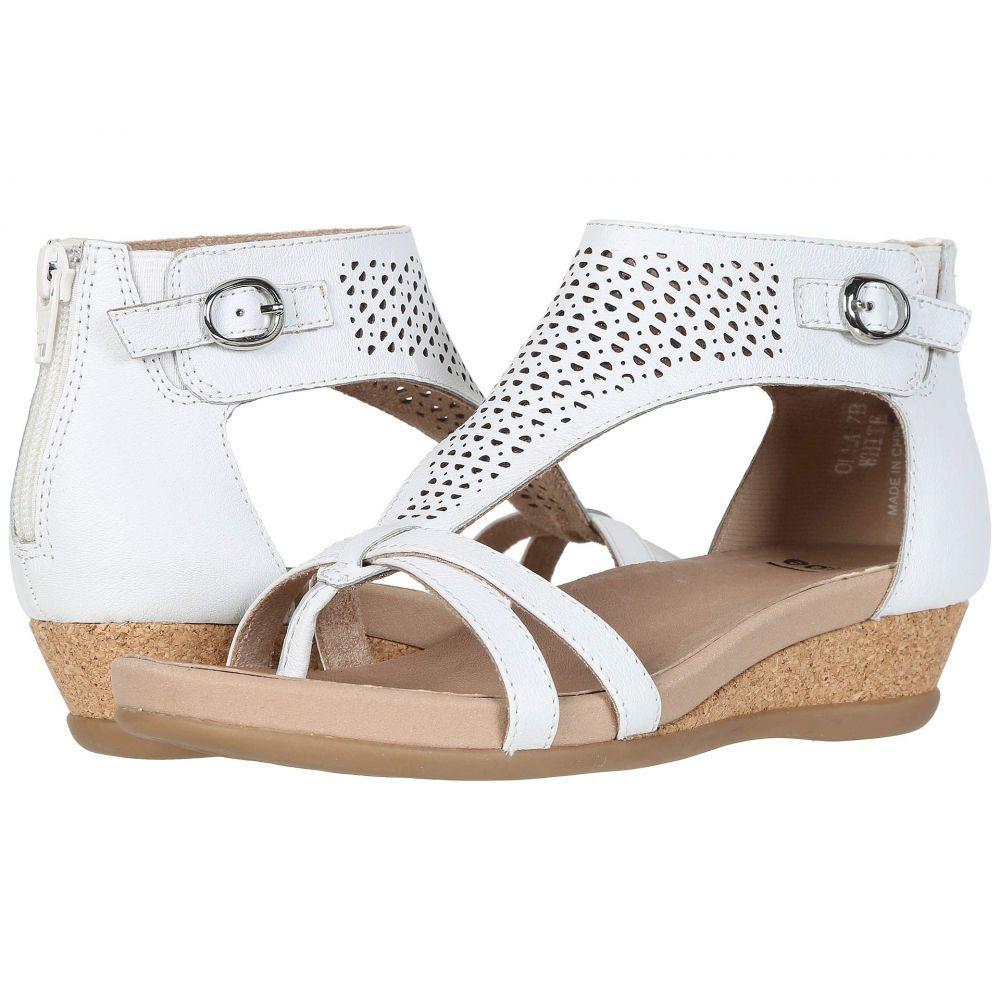 カルソーアースシューズ Earth レディース サンダル・ミュール シューズ・靴【Olea】White Eco Calf