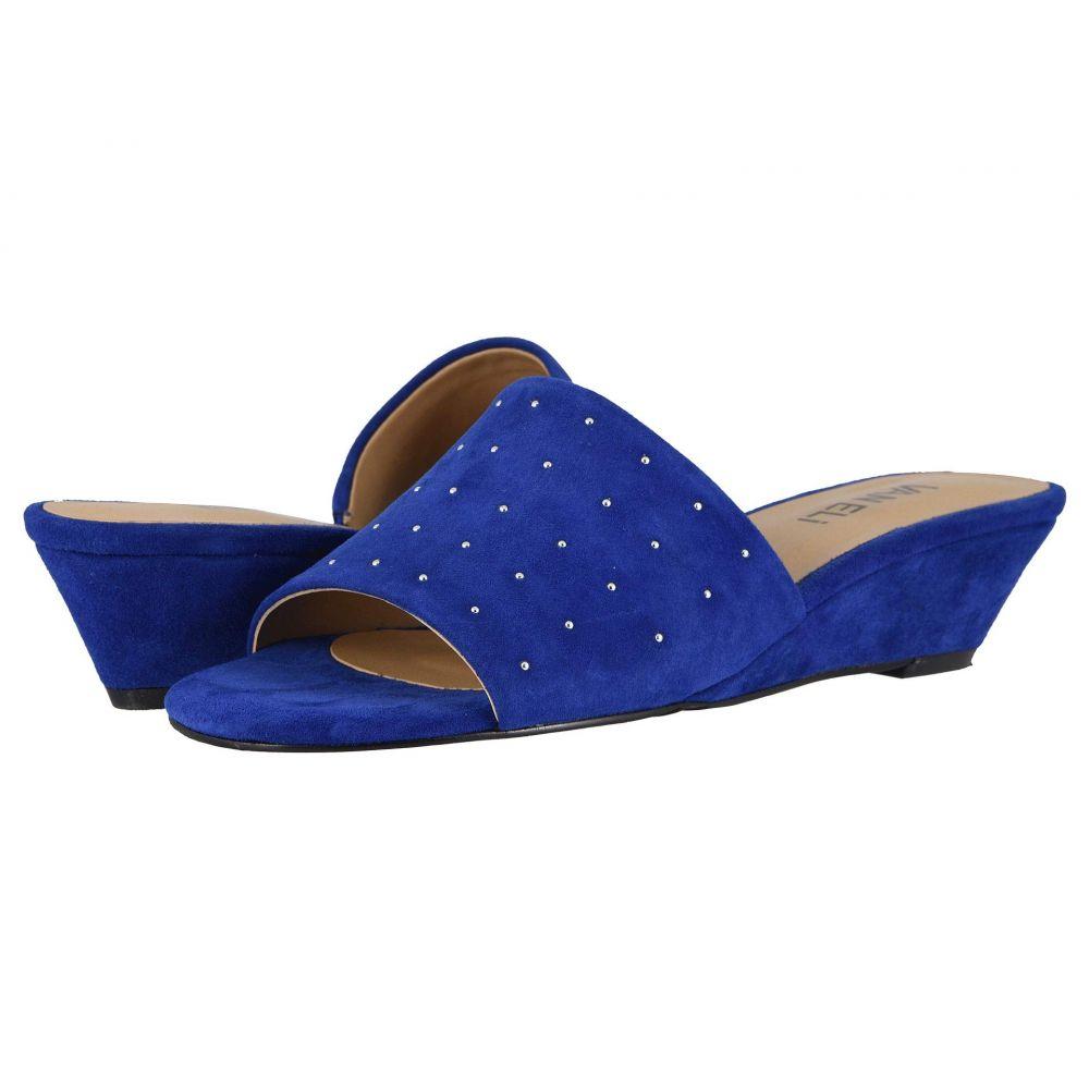 ヴァネリ Vaneli レディース サンダル・ミュール シューズ・靴【Hiba】Jordan Blue Suede/Match Elastic