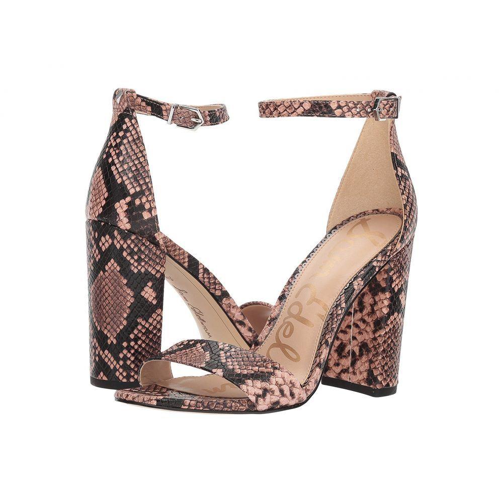 サム エデルマン Sam Edelman レディース サンダル・ミュール アンクルストラップ シューズ・靴【Yaro Ankle Strap Sandal Heel】Dusty Rose Royal Snake Print Goat Leather
