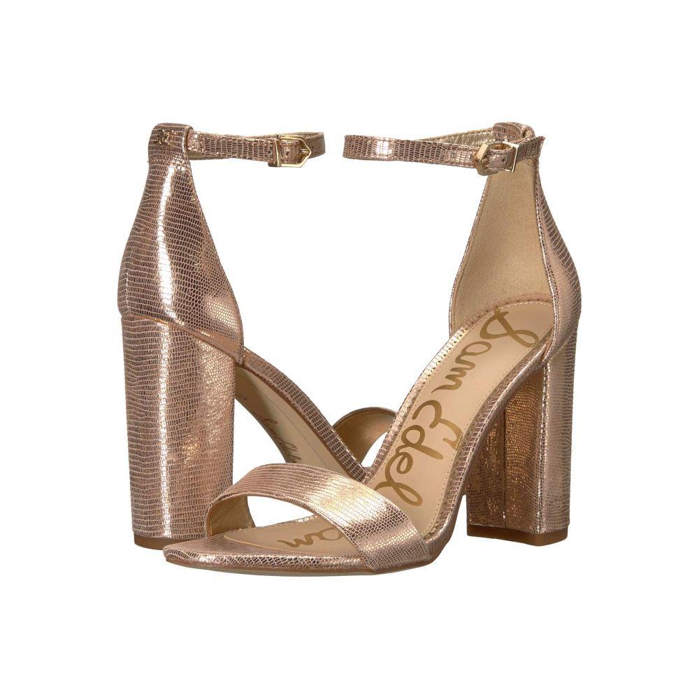 サム エデルマン Sam Edelman レディース サンダル・ミュール アンクルストラップ シューズ・靴【Yaro Ankle Strap Sandal Heel】Blush Gold New Glamour Lizard Print Leather