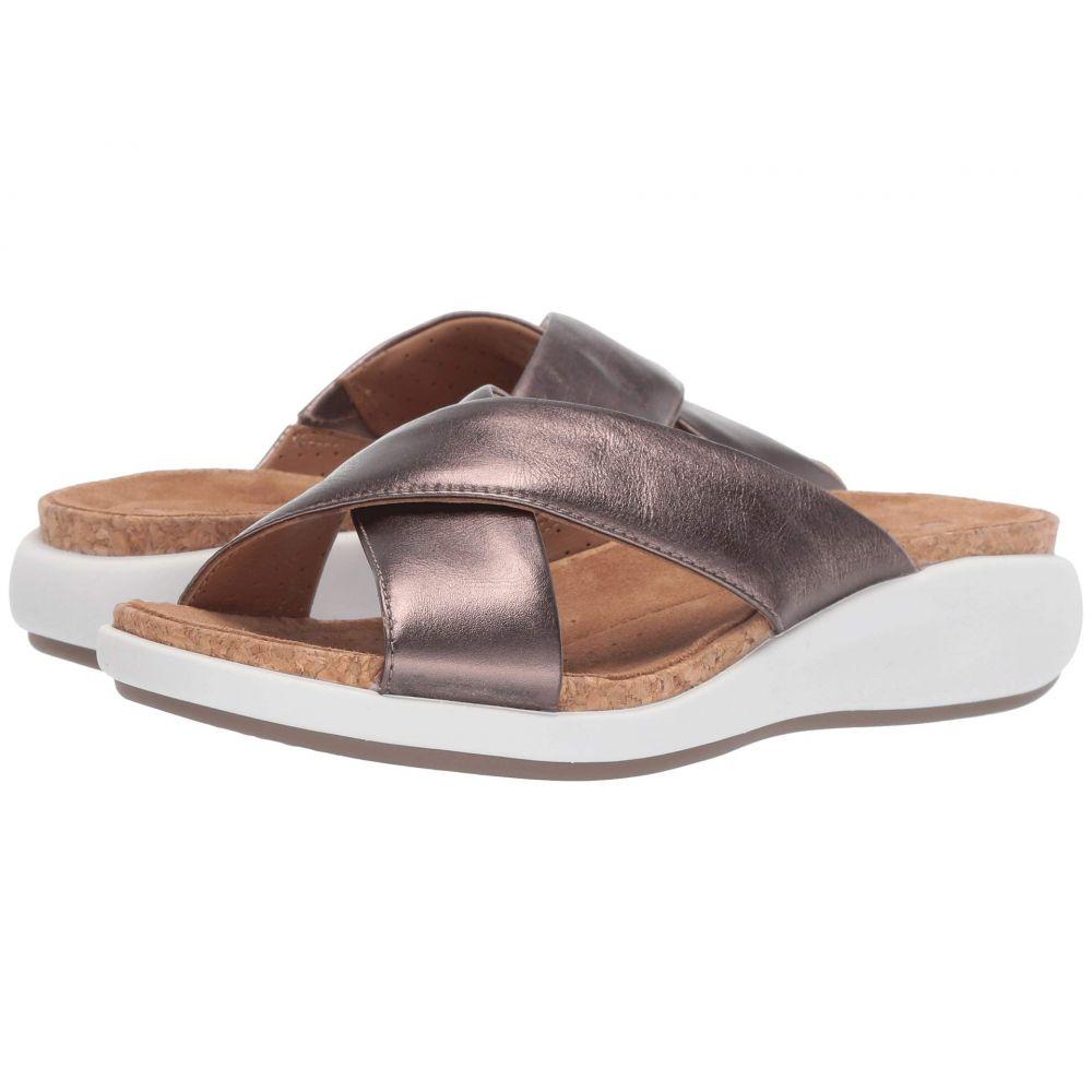 クラークス Clarks レディース サンダル・ミュール シューズ・靴【Un Bali Go】Pebble Metallic Leather