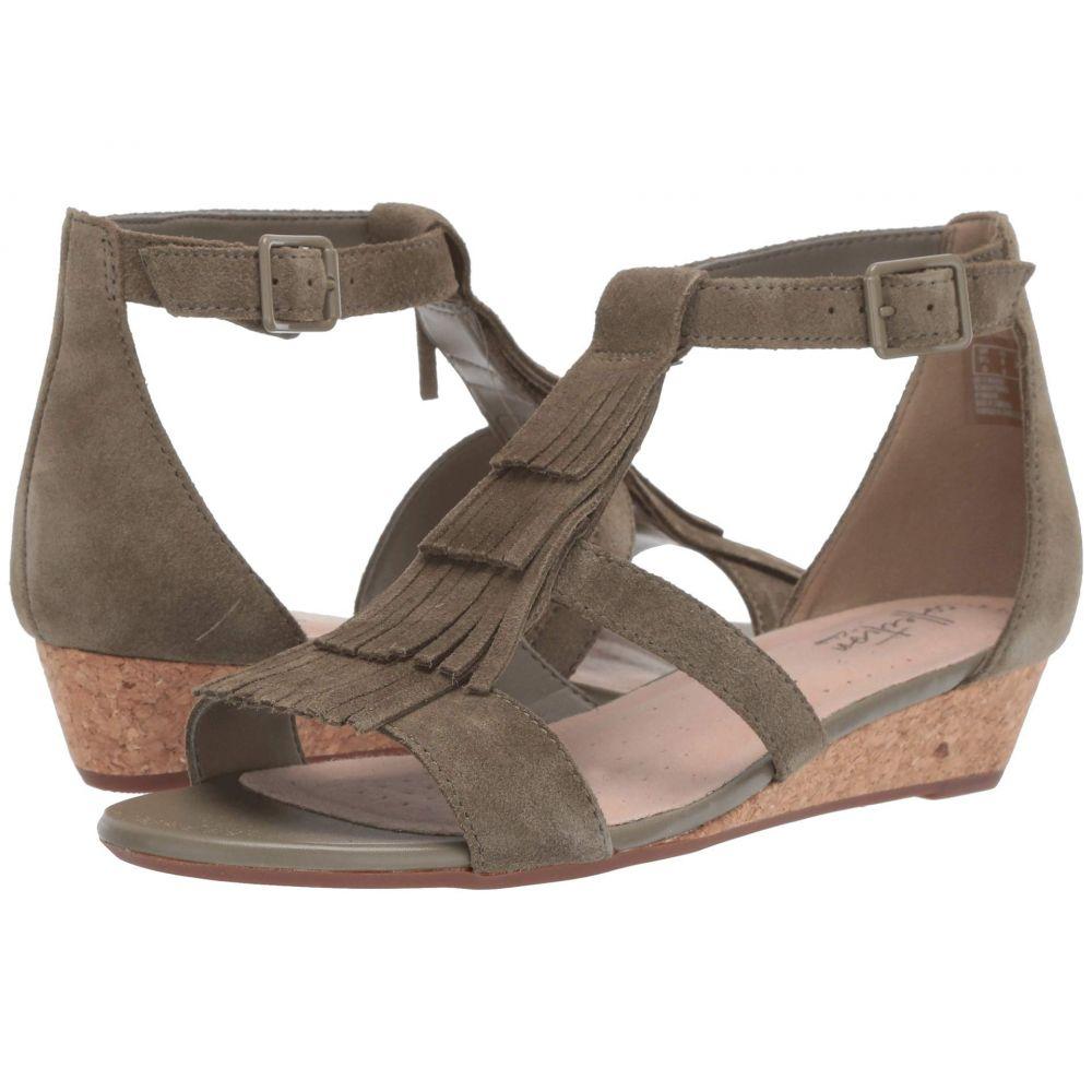 クラークス Clarks レディース サンダル・ミュール シューズ・靴【Abigail Sun】Olive Suede
