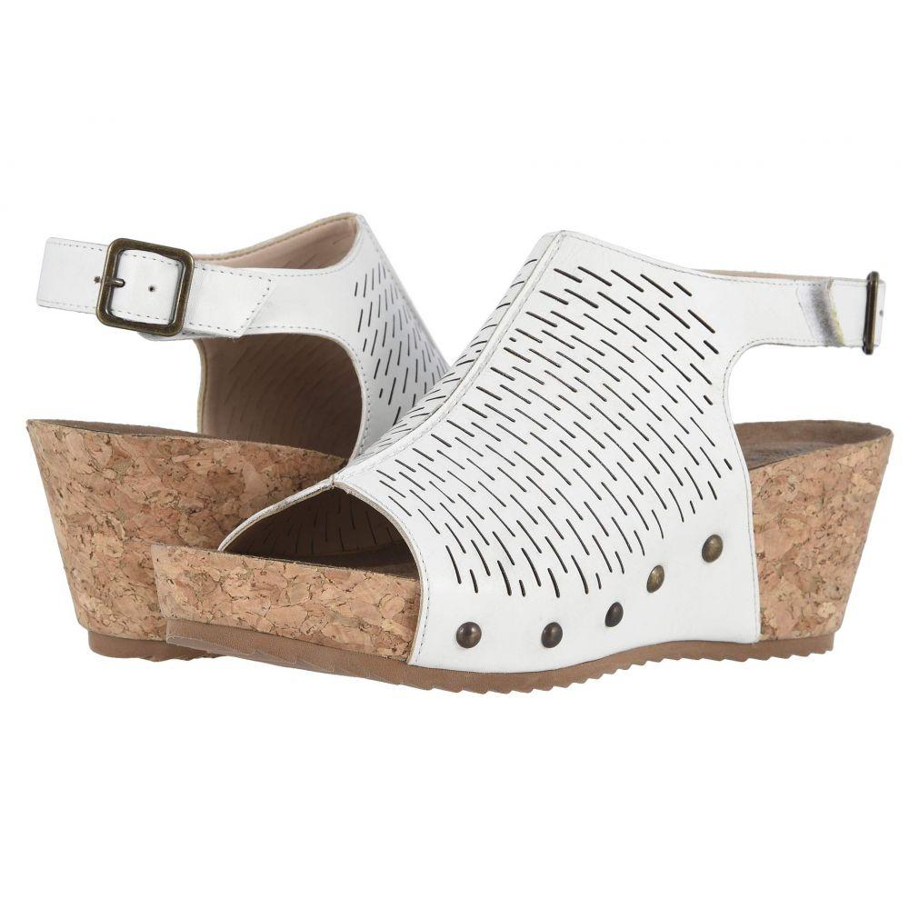 ウォーキング クレードル Walking Cradles レディース サンダル・ミュール シューズ・靴【Taminee】White Accordion Perforated Leather