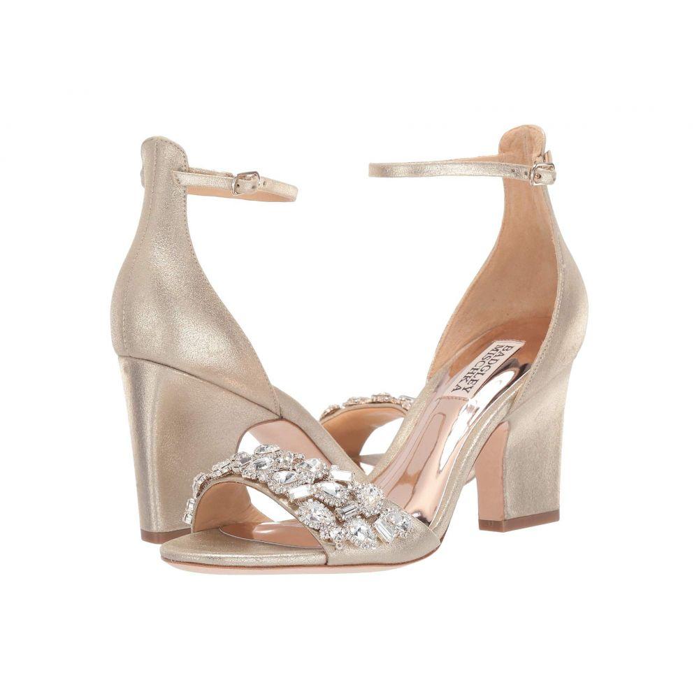 バッジェリー ミシュカ Badgley Mischka レディース サンダル・ミュール シューズ・靴【Laraine】Platino Metallic Suede