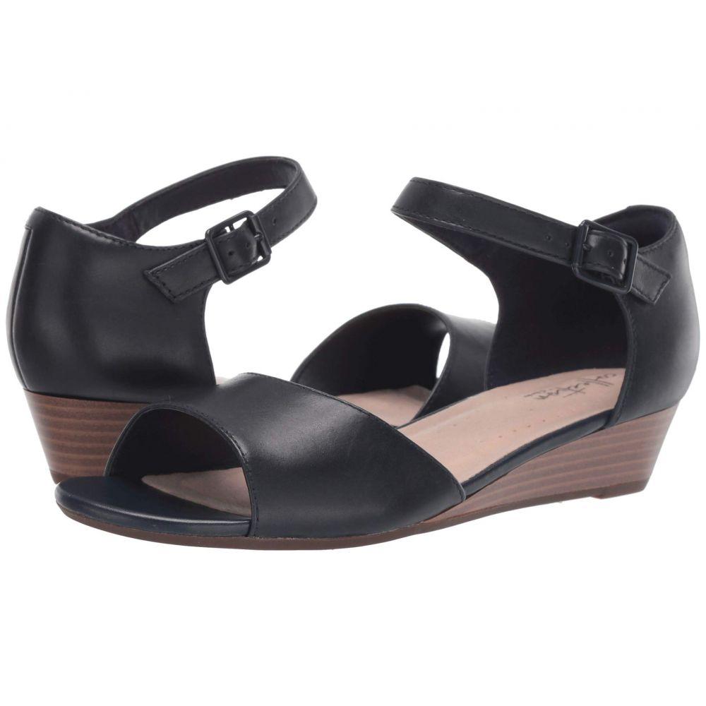 クラークス Clarks レディース サンダル・ミュール シューズ・靴【Abigail Jane】Navy Leather