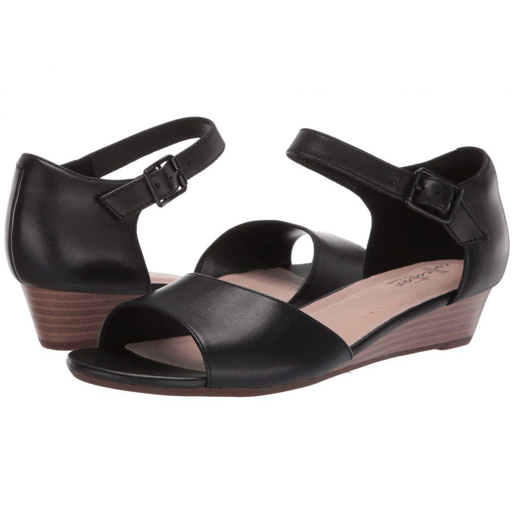 クラークス Clarks レディース サンダル・ミュール シューズ・靴【Abigail Jane】Black Leather
