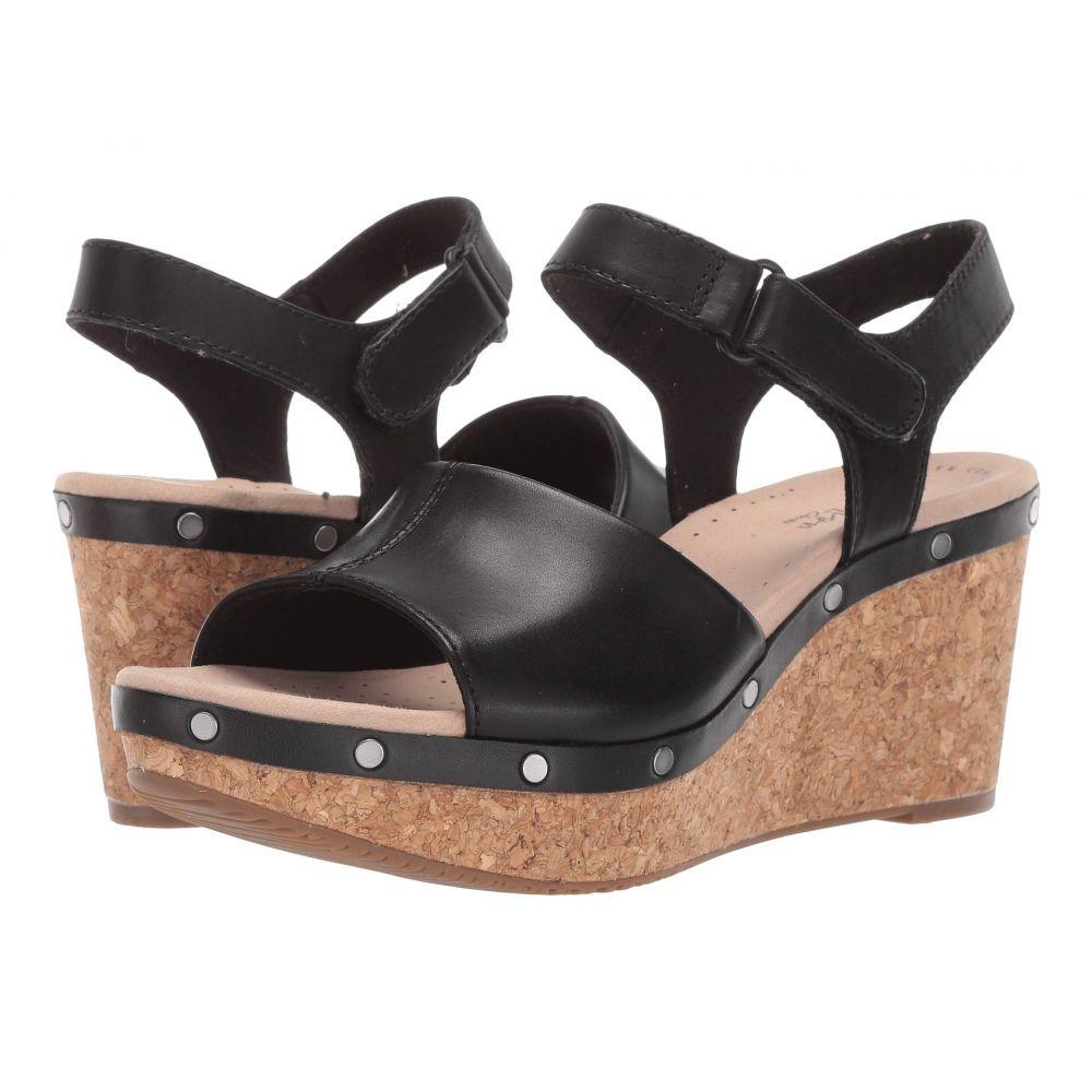 クラークス Clarks レディース サンダル・ミュール シューズ・靴【Annadel Clover】Black Leather